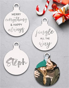 gifts: Personalised Merry Everything Tree Ornaments!