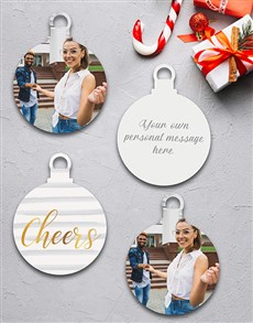 gifts: Personalised Christmas Cheers Tree Decorations!