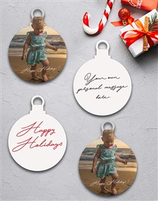 gifts: Personalised Summer Christmas Tree Ornaments!