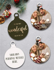 gifts: Personalised Wonderful Time Tree Decorations!