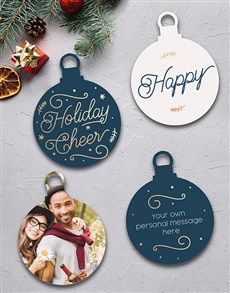 gifts: Personalised Happy Tree Decorations!