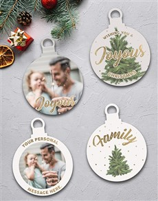 gifts: Personalised Joyous Family Tree Decorations!