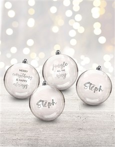 gifts: Personalised Jingle All The Way Baubles!