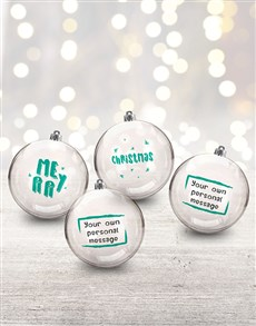 gifts: Personalised Merry Baubles!