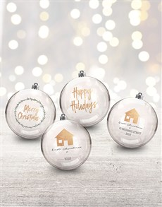 gifts: Personalised Happy Holiday Baubles!
