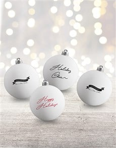 gifts: Personalised Holiday Cheer Baubles!