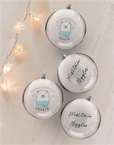gifts: Personalised My First Christmas Baubles!