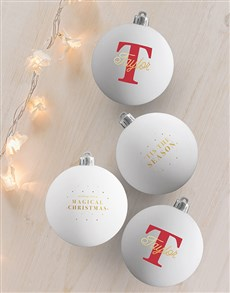 gifts: Personalised Magical Christmas Baubles!