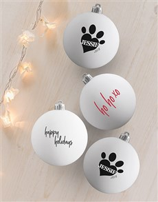 gifts: Personalised Ho Ho Xo Baubles!