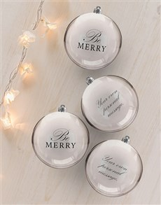 gifts: Personalised Be Merry Baubles!