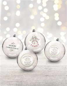 gifts: Personalised In Loving Memory Baubles!