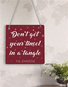 gifts: Personalised Tangle Metal Sign!