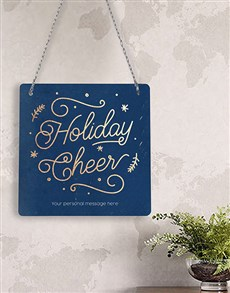 gifts: Personalised Holiday Cheer Metal Sign!
