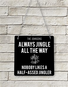 gifts: Personalised Jingle Metal Sign!