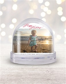 gifts: Personalised Happy Holidays Photo Snow Globe!