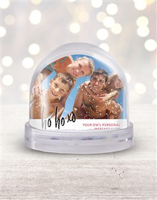 gifts: Personalised Ho Ho Ho Photo Snow Globe!
