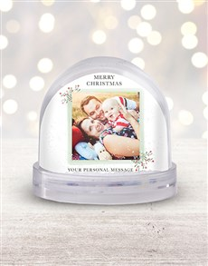 gifts: Personalised Merry Christmas Photo Snow Globe!