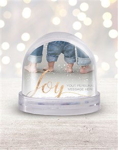 gifts: Personalised Golden Joy Photo Snow Globe!