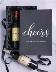gifts: Cheers Personalised Wine Duo Giftbox!
