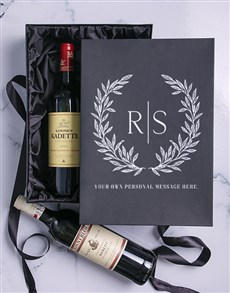gifts: Laurel Personalised Wine Duo Giftbox!