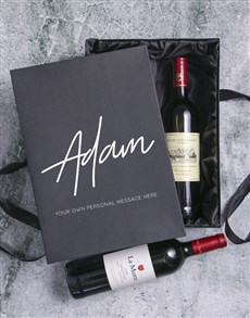 gifts: Personalised Wine Duo Giftbox!