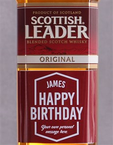 gifts: Personalised Birthday Scottish Leader!