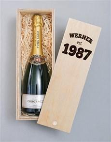 gifts: Personalised Established Printed Wine Crate!