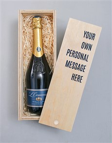 gifts: Personalised Message Printed Bubbly Crate!