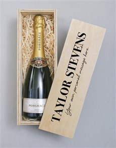 gifts: Personalised Printed Bubbly Crate!