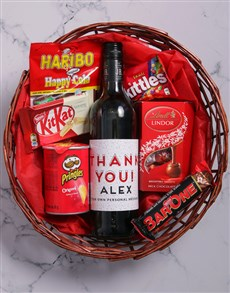gifts: Personalised Thank You Snack Basket!