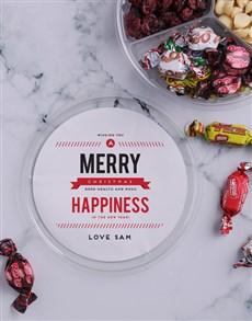 gifts: Personalised Festive Happiness Nut Tub!