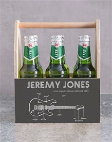 gifts: Personalised Fender Printed Beer Crate!