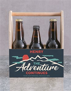 gifts: Personalised Adventure Printed Beer Crate!