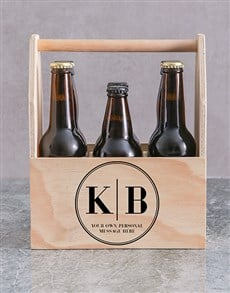 gifts: Personalised Monogram Printed Beer Crate!