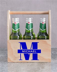 gifts: Personalised Initial Printed Beer Crate!