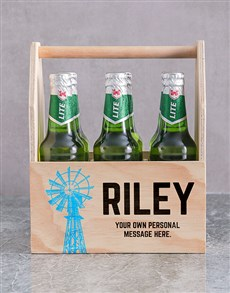 gifts: Personalised Karoo Printed Beer Crate!