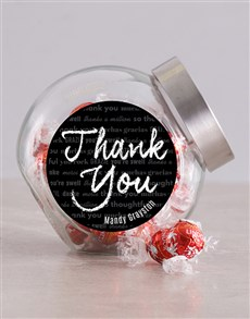 gifts: Personalised Chalk Thank You Candy Jar!