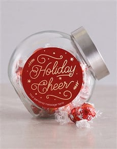 gifts: Personalised Holiday Cheer Candy Jar!