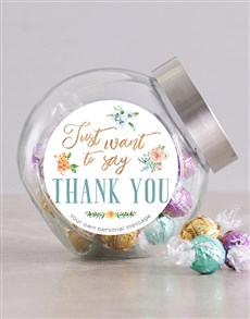 gifts: Personalised Just Want To Say Candy Jar!