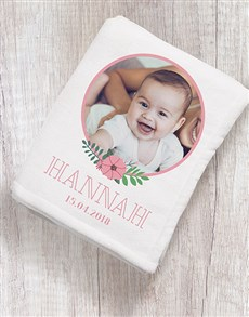 gifts: Personalised Floral Photo Fleece Blanket!