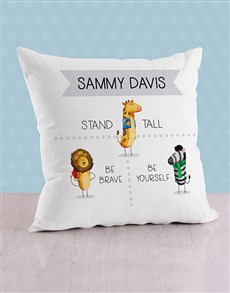 gifts: Personalised Stand Tall Baby Scatter Cushion!