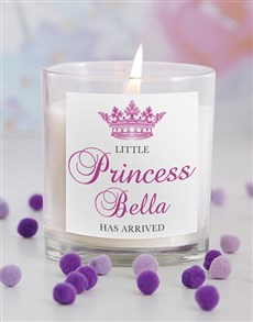 gifts: Little Princess New Baby Candle!