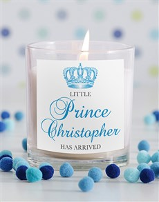 gifts: Little Prince New Baby Candle!