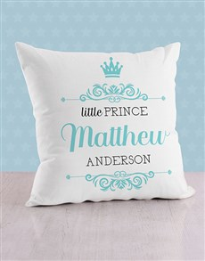 gifts: Personalised Prince Crown Scatter Cushion!