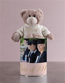 gifts: Teddy in a Graduation Tin!