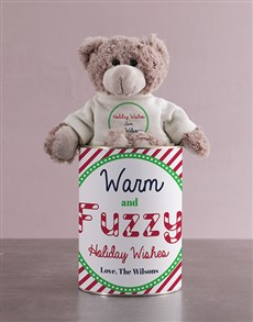 gifts: Teddy in a Candy Cane Tin!