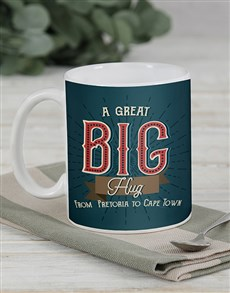 gifts: Personalised Long Distance Hug Mug Set!