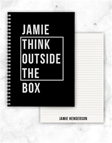gifts: Personalised Outside The Box Notebook!