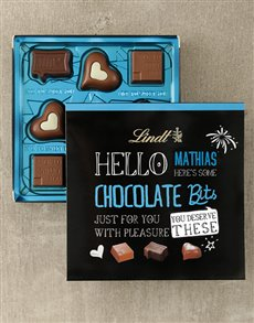 gifts: Personalised Lindt Hello Thanks Box !