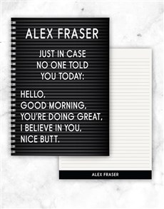 gifts: Personalised Just In Case Notebook!